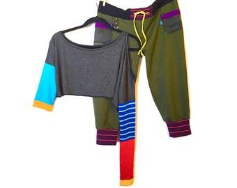 Olive Drab Camo Pocket Dance Pants
