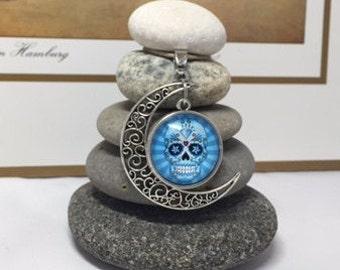 Sugar Skull Candy Owl Day of the Dead Rock Cairn, Unique, Unusual, Nightmare, Zen Garden, dia de los muertos Flower Skull Gothic, Halloween
