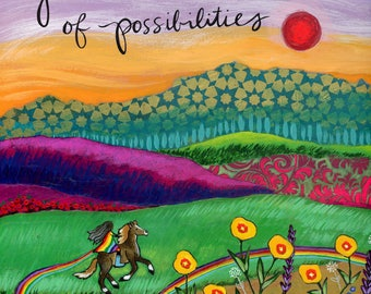 Greeting Card : Rainbow of Possibilities