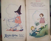 1916 Mother Goose Book of Rhymes Wonderfully Illustrated Childrens Book