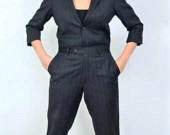 Reconstructed Jumpsuit of a menssuit - size 38 / 12