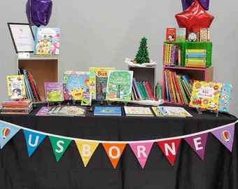 Usborne Books Rainbow Banner