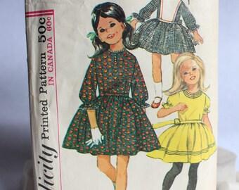 1960s Girl's Dress, Simplicity 6066, 1965