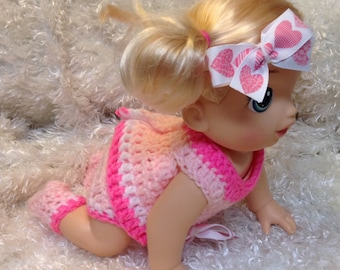 Clothes For 14 Inch Dolls . Pink Set.
