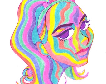 Rainbow Lady H