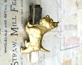 Dog Tie Clip Scottie Dog Gold Terrier Tie Clip Gift for Him Dog Lover Scottish Terrier Tie Clip Gift for Dad Men's Accessories & Gifts