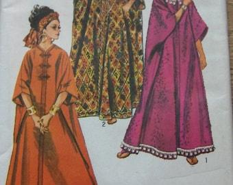 Vintage 60s simplicity 8354 MISSES CAFTAN sewing pattern uncut one size