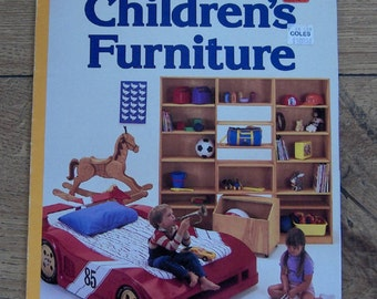 vintage 1988 sunset pattern book Children's Furniture cars,tables,chairs,play kitchen,beds,plus much more