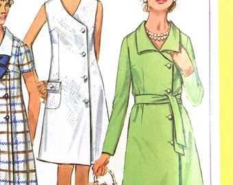 Vintage Simplicity Sewing Pattern 8142 for Misses' side buttoned dress pattern  Busts 40 or 34  inches