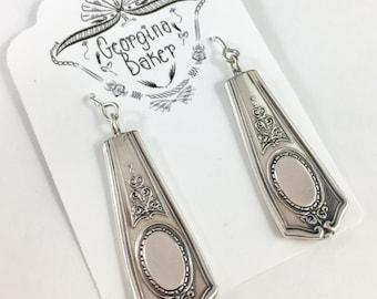 Cutlery jewelry, Silverware Jewelry, Fork Jewelry, Vintage Earrings, Wife Gift, Spoon Earrings, Spoon Jewelry, Spoon Handle Earrings