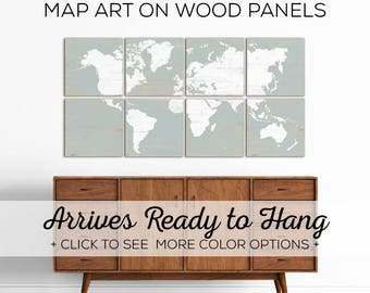 Maps of the World for Sale in a Variety of Options - Make for great office decor or bedroom decor