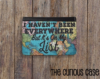 Passport Cover Its on my List Passport Case Passport holder Vegan Friendly
