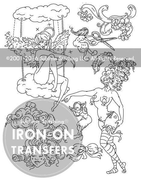 Molly crabapple iron on hand embroidery transfer patterns