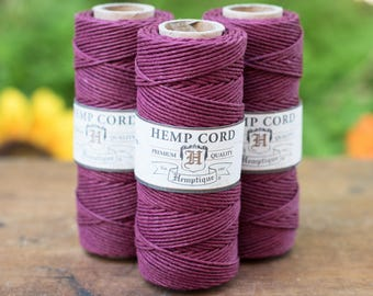 Burgundy Hemp Cord, 1mm Hemp Cord, 205 Feet,  Hemp Twine -T2