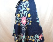 Vintage Hippie Batik Wrap Around Skirt