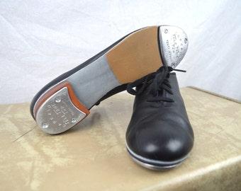 Vintage 1980s Coppola Leather Tap Shoes - Size 9