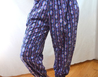 Vintage 80s Neon Rainbow International Baggyz Hammer Time Harem Baggy Pants