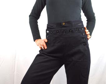 RARE Vintage Crackerjack Sailor Navy Naval Bell Bottom Wool Pants