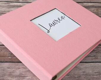 Baby Book, Baby Gift, Baby Album, Baby Memory Book, Baby Keepsake, Modern Baby Book, Baby Pink