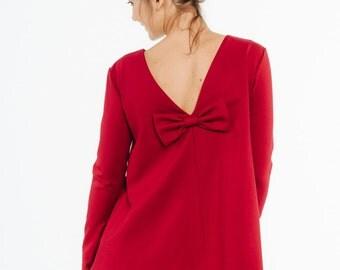 Red blouse   Romantic blouse   Elegant blouse   LeMuse red blouse