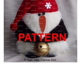 Christmas PATTERN Tutorial Penguin Instant Digital Download PDF ePattern Bling by Happy Valley Primitives