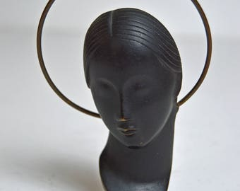signed HAGENAUER bronze madonna sculpture Vienna Austria  MCM