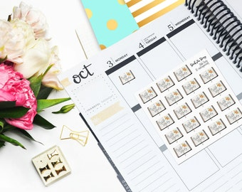 JW Bible Study Floral Vertical Planner JW Gift Sticker Glossy - Stick to Your Story