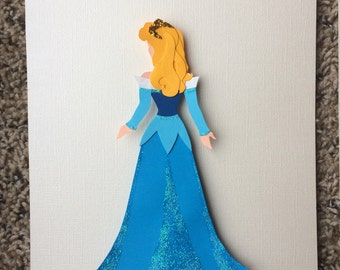 Beautiful Aurora Sleeping Beauty Pink Disney Princess Inspired Paper Wall Art
