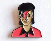 David Bowie Enamel Pin, Pop, Rock, Brooch, Ziggy Stardust Pin