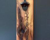 Lichtenberg Figure Wall-Mounted Bottle Opener