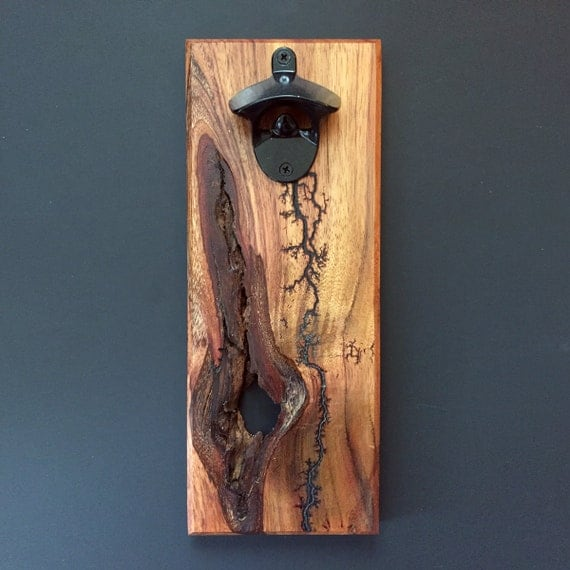 Lichtenberg Figure Wall-Mounted Bottle Opener