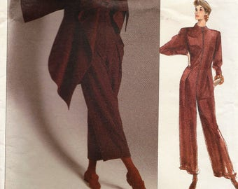 Vogue 2389 / Paris Original / Vintage Designer Sewing Pattern By Claude Montana / Jumpsuit  Coat Jacket / Size 12 Bust 34