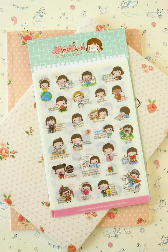 Momoi Girl cartoon scrapbooking stickers Ver 02