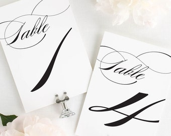 Marriage Table Numbers - 5x7""