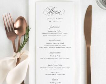 Garden Elegance Dinner Menus - Deposit