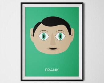 Frank, Frank Movie Print, Domhnall Gleeson, Michael Fassbender, Movie Wall Decor, Pop Culture Art, Alternative Movie Poster, Cult Movies
