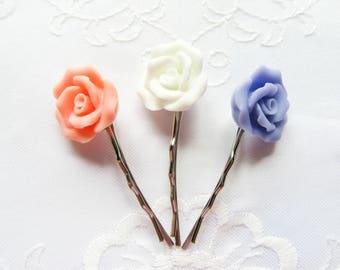 Matte Rose Hair Pins / Bobby Pins / Flowers / Summer / Pretty / Cute / Hair / Kawaii / Sweet Lolita