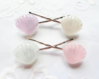 Seashell Hair Pins / Bobby Pins / Kawaii / Summer / Cute / Mermaid / Hair