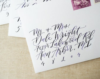 Calligraphy Hand Addressed Envelopes - Handwritten Modern Wedding and Event Calligraphy