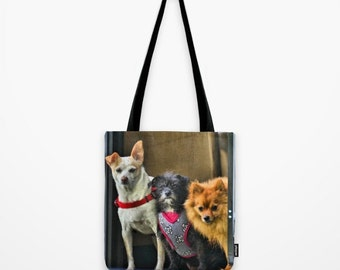 Naughty Dogs Photo Tote Bag - Photo Tote. Reusable Bag