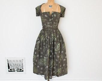 Vintage 1950s Dress - 50s Top Skirt Set - The Violet