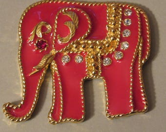 Spectacular Red Elephant Magnet