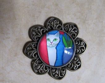 Cat in a Room - Magnet
