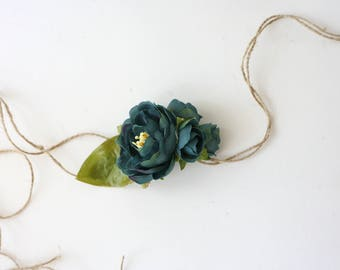 ready to ship adjustable teal turquoise vintage rifle paper co inspired headband tieback