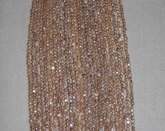 Pearl, Freshwater Pearl, Pearl Mini Coin, Cream Pearl, Genuine Pearl, Real Pearl, Loose Pearl, Drilled Pearl, Strand, 4mm, AdrianasBeads