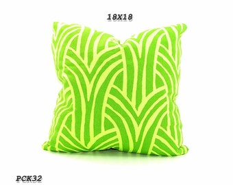 CLEARANCE SALE-Green Pillow,  Home Decor, Decorative Pillows, 18x18 inch, Chic Pillow