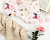 Pink Floral 'Wren' Feather Print Cat Ear Sleep Mask Blindfold Handmade