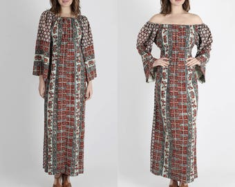 India Dress Indian Dress Ethnic Dress Maxi Dress 70s Dress Batik Dress Vintage Dress Boho Hippie Block Print Festival Dress Party Maxi M