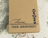 1940 FLOWERS Vintage Notebook Journal
