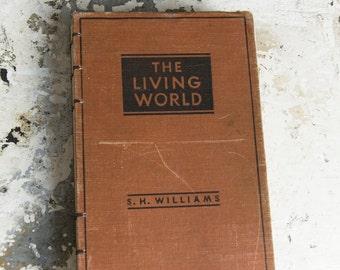 1937 LIVING WORLD Vintage Ruled Notebook Journal
